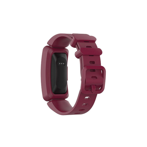 Mobile Mob Fitbit Ace 2 Bands Replacement Straps with Buckle (Kids size) Wine Red
