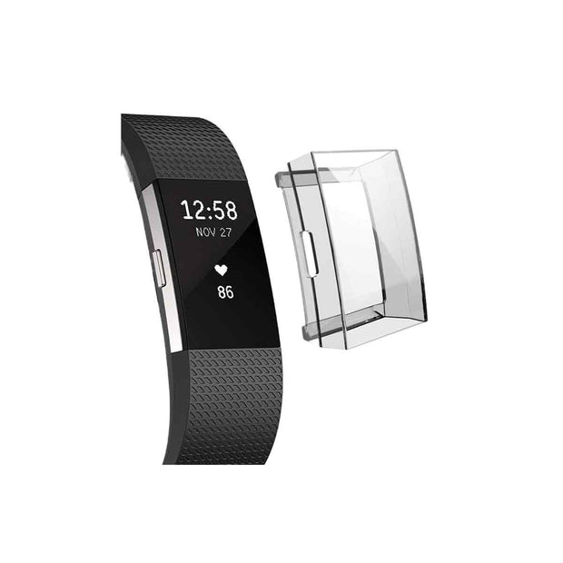 Mobile Mob Slimfit Fitbit Charge 2 Protective Case & Screen Protector Clear