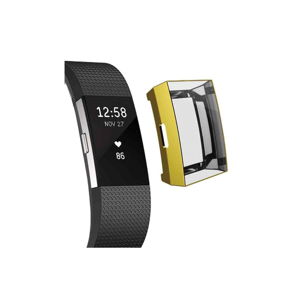 Mobile Mob Slimfit Fitbit Charge 2 Protective Case & Screen Protector Gold