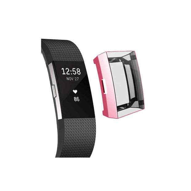 Mobile Mob Slimfit Fitbit Charge 2 Protective Case & Screen Protector Pink