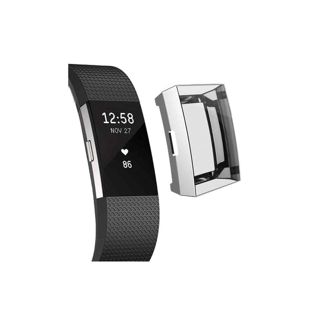 Mobile Mob Slimfit Fitbit Charge 2 Protective Case & Screen Protector Silver