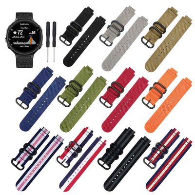 Nato Garmin Forerunner 230/235/630/220/620/735 Replacement Bands Strap