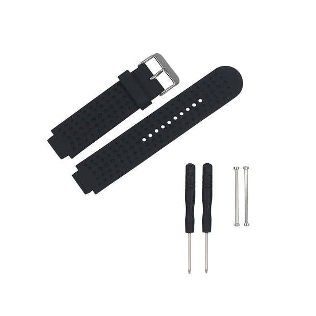 Mobile Mob Garmin Forerunner 230/235/630/220/620/735 Replacement Bands Strap Kit Black