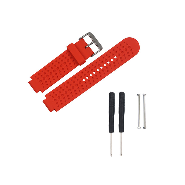 Mobile Mob Garmin Forerunner 230/235/630/220/620/735 Replacement Bands Strap Kit Red