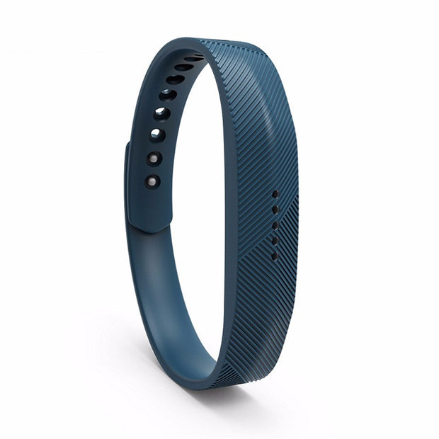Mobile Mob Fitbit Flex 2 Bands Replacement Bracelet Wristband With Clasp Large / Dark Blue