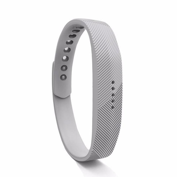 Fitbit Flex 2 Bands Replacement Bracelet Wristband With Clasp - Light Grey