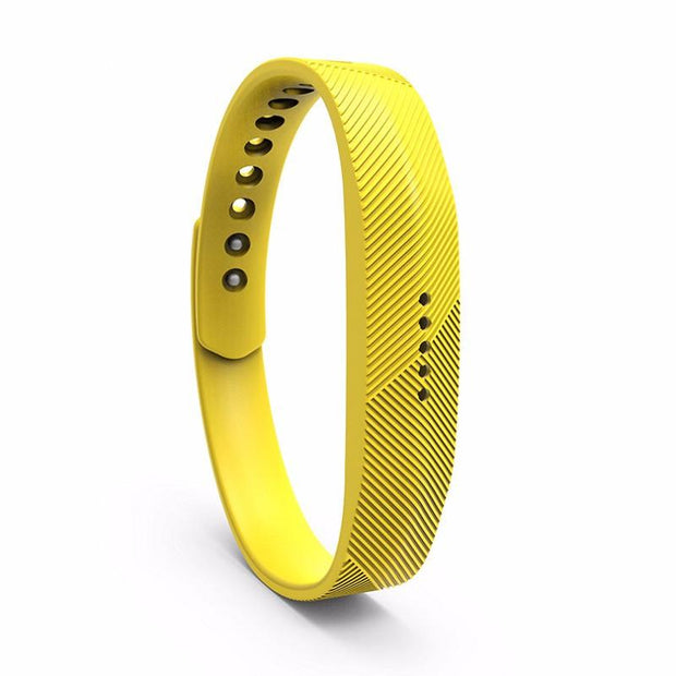Mobile Mob Fitbit Flex 2 Bands Replacement Bracelet Wristband With Clasp Large / Yellow