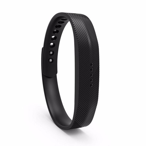 Fitbit Flex 2 Bands Replacement Bracelet Wristband With Clasp - Black