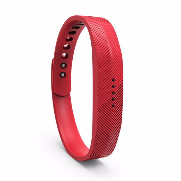 Fitbit Flex 2 Bands Replacement Bracelet Wristband With Clasp - Red