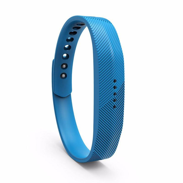 Fitbit Flex 2 Bands Replacement Bracelet Wristband With Clasp - Light Blue