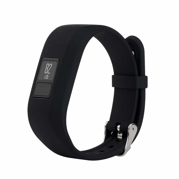 Mobile Mob Garmin Vivofit Jr & Jr 2 Replacement Bands Strap with Stainless Buckle Black
