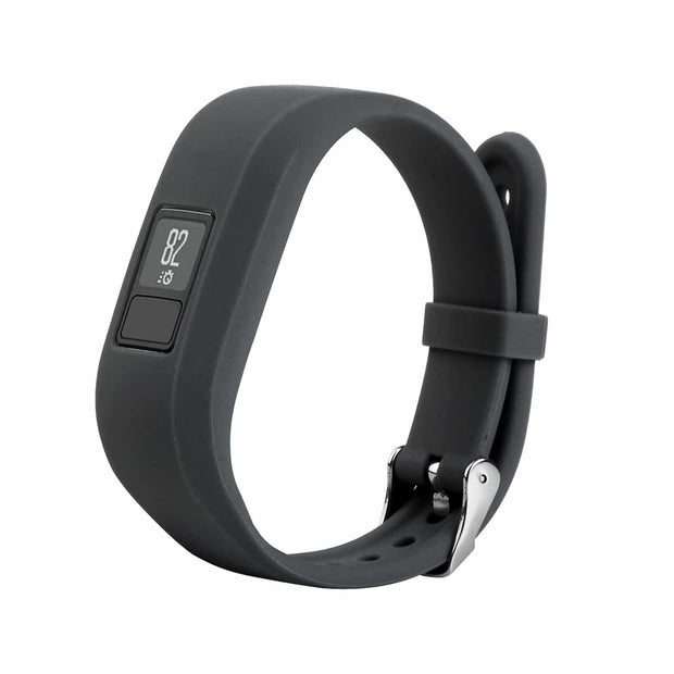 Mobile Mob Garmin Vivofit Jr & Jr 2 Replacement Bands Strap with Stainless Buckle Smoke Grey