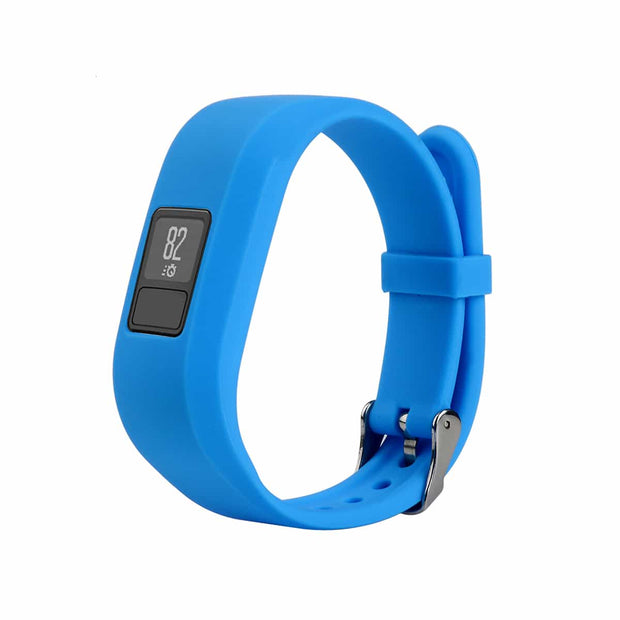 Mobile Mob Garmin Vivofit Jr & Jr 2 Replacement Bands Strap with Stainless Buckle Light Blue
