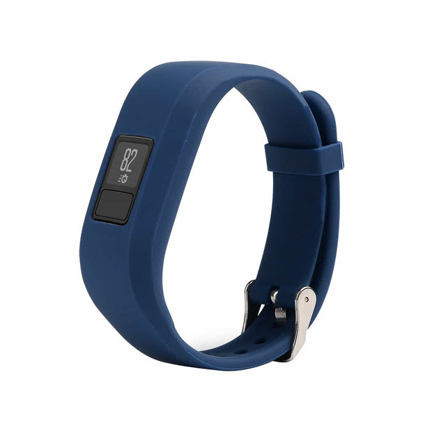 Mobile Mob Garmin Vivofit Jr & Jr 2 Replacement Bands Strap with Stainless Buckle Navy
