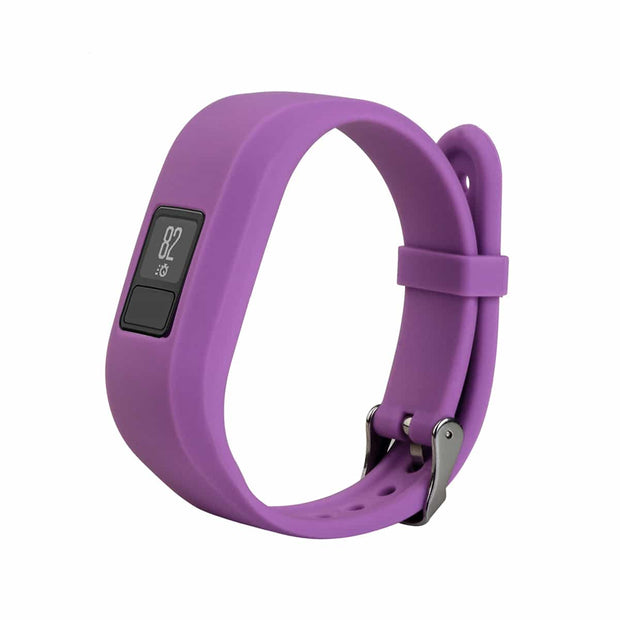 Mobile Mob Garmin Vivofit Jr & Jr 2 Replacement Bands Strap with Stainless Buckle Purple
