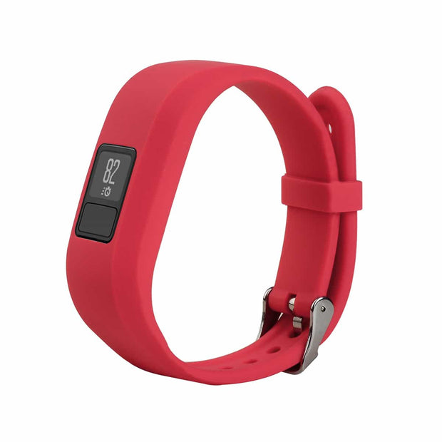 Mobile Mob Garmin Vivofit Jr & Jr 2 Replacement Bands Strap with Stainless Buckle Red