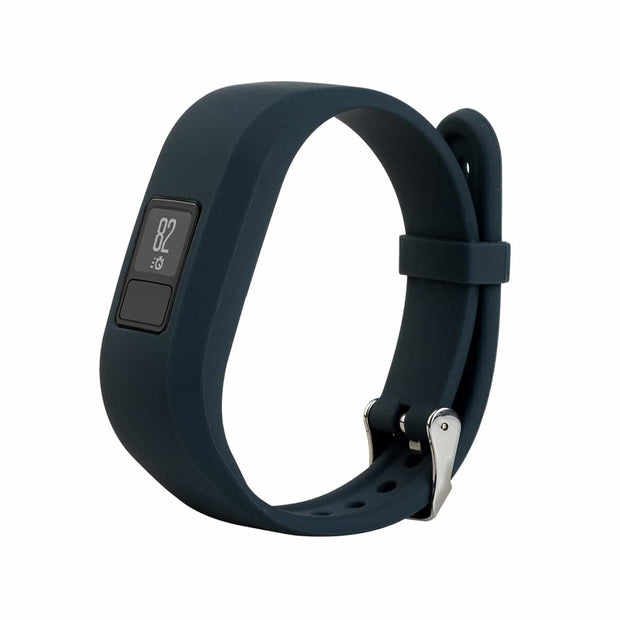 Mobile Mob Garmin Vivofit Jr & Jr 2 Replacement Bands Strap with Stainless Buckle Slate Grey