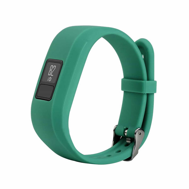 Mobile Mob Garmin Vivofit Jr & Jr 2 Replacement Bands Strap with Stainless Buckle Teal