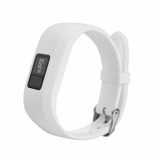 Mobile Mob Garmin Vivofit Jr & Jr 2 Replacement Bands Strap with Stainless Buckle White