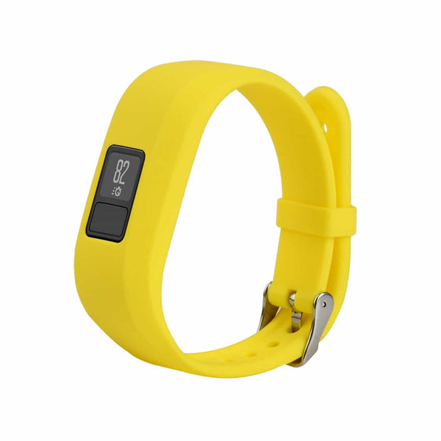 Mobile Mob Garmin Vivofit Jr & Jr 2 Replacement Bands Strap with Stainless Buckle Yellow