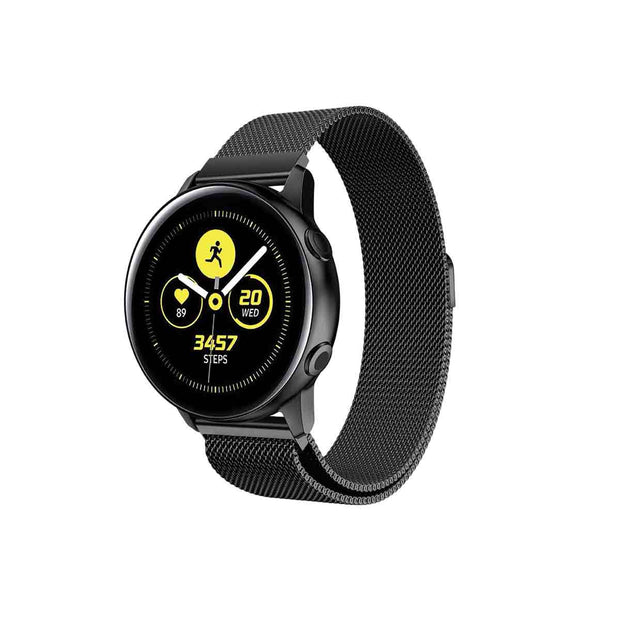 Mobile Mob Milanese Samsung Galaxy Active & 2 Watch Band Replacement Black Night