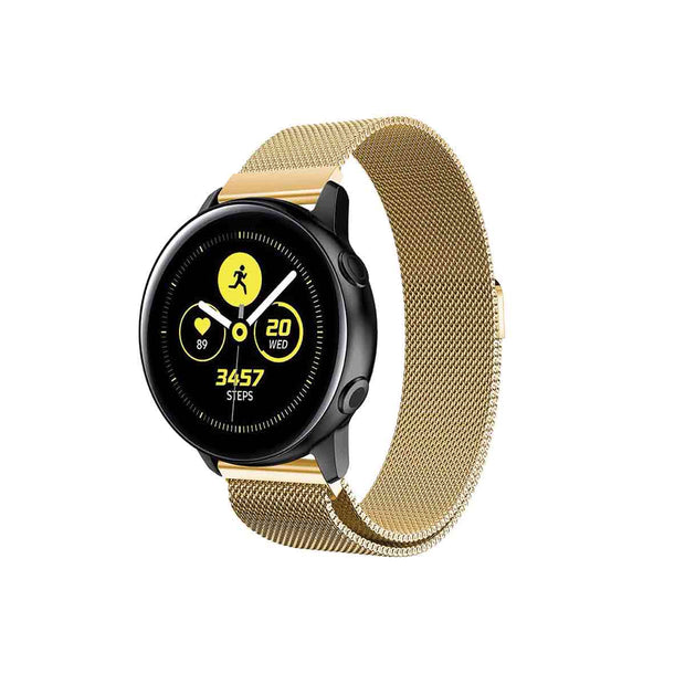 Mobile Mob Milanese Samsung Galaxy Active & 2 Watch Band Replacement Gold Honour