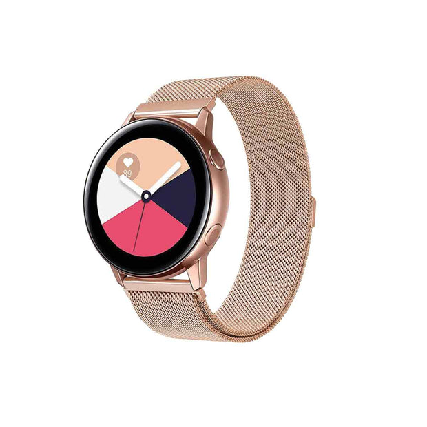 Mobile Mob Milanese Samsung Galaxy Active & 2 Watch Band Replacement Rose Gold