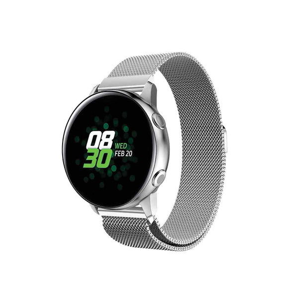 Mobile Mob Milanese Samsung Galaxy Active & 2 Watch Band Replacement Silver Steel
