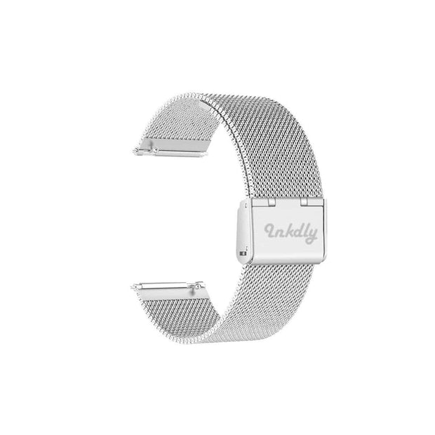 Mobile Mob Milanese Fitbit Versa & 2 Band Replacement Quick Release Silver Steel