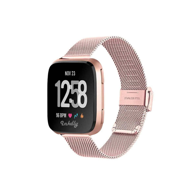 Mobile Mob Milanese Fitbit Versa & 2 Band Replacement Quick Release Special Edition Rose Gold