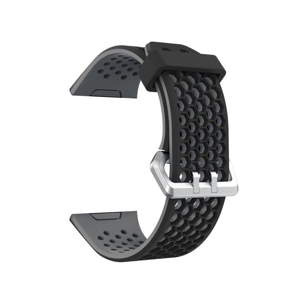 Mobile Mob Airvent Fitbit Ionic Sports Band Replacement Strap Small / Black + Grey Vents