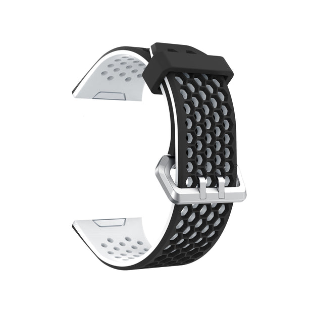 Mobile Mob Airvent Fitbit Ionic Sports Band Replacement Strap Small / Black + White Vents