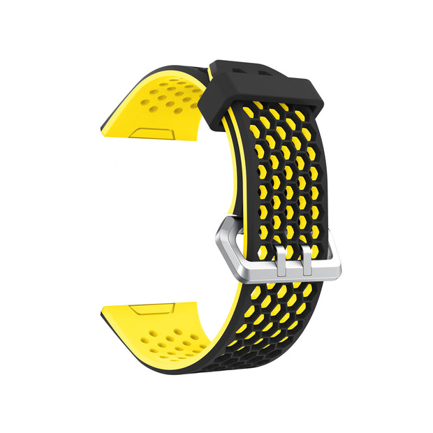 Mobile Mob Airvent Fitbit Ionic Sports Band Replacement Strap Small / Black + Yellow Vents