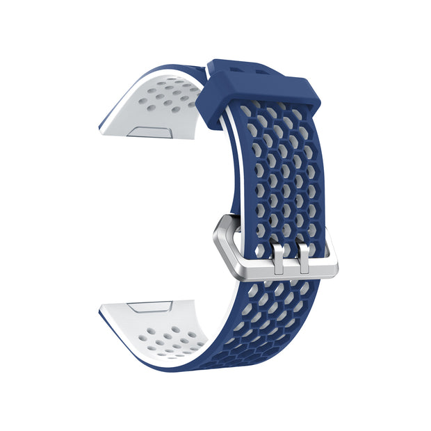 Mobile Mob Airvent Fitbit Ionic Sports Band Replacement Strap Small / Navy + White Vents