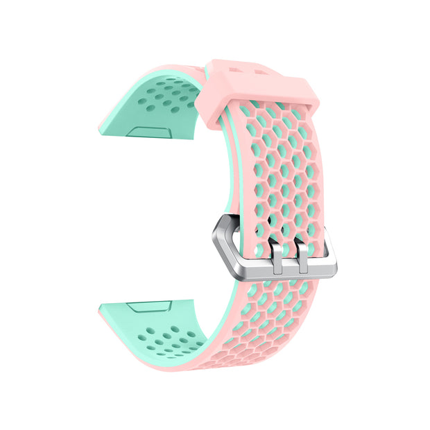 Mobile Mob Airvent Fitbit Ionic Sports Band Replacement Strap Small / Pink + Teal Vents