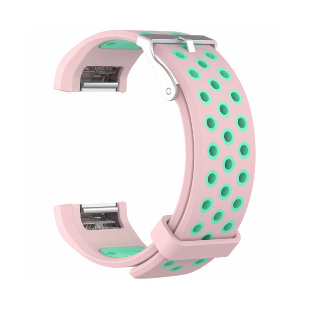 Mobile Mob AirVent Fitbit Charge 2 Bands Replacement Bracelet Wristband with Buckle Pink + Teal Vents