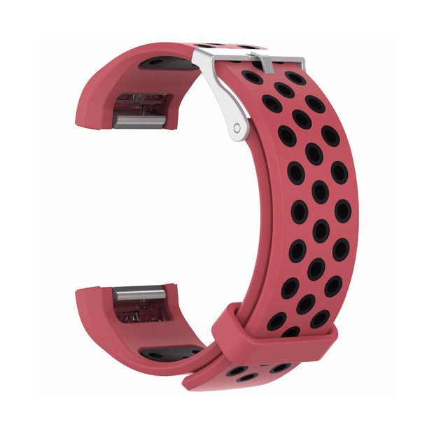 Mobile Mob AirVent Fitbit Charge 2 Bands Replacement Bracelet Wristband with Buckle Red + Black Vents
