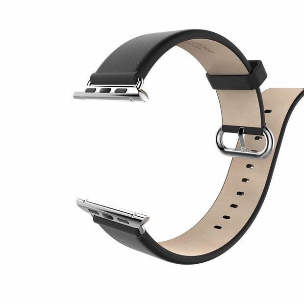 Mobile Mob Classic Leather Apple Watch Bands Replacement Strap 38MM/40MM / Black