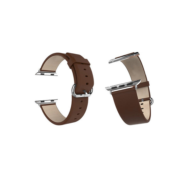 Mobile Mob Classic Leather Apple Watch Bands Replacement Strap 38MM/40MM / Brown