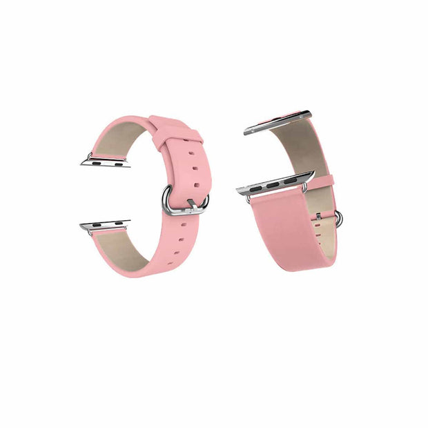 Mobile Mob Classic Leather Apple Watch Bands Replacement Strap 38MM/40MM / Pink