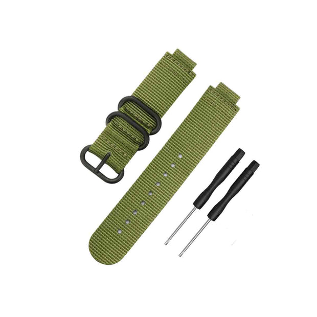 Mobile Mob NATO Garmin Forerunner 230/235/630/220/620/735 Replacement Bands Army Green