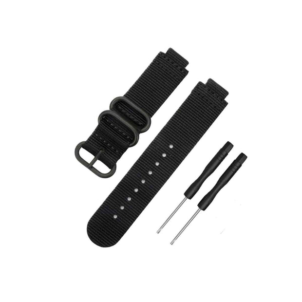 Mobile Mob NATO Garmin Forerunner 230/235/630/220/620/735 Replacement Bands Black