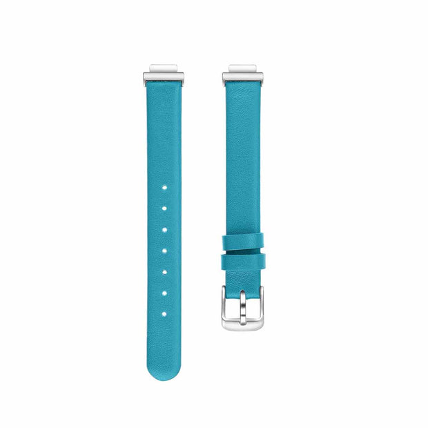 Leather Fitbit Inspire & HR Bands Replacement Strap Blue