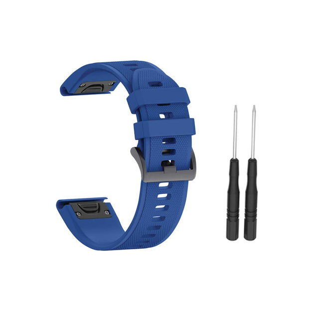 Mobile Mob Garmin Band Replacement Straps with Quick Change (22mm) Blue