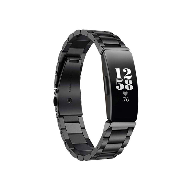 Mobile Mob Boss Fitbit Inspire & HR Band Replacement Stainless Link Black Night