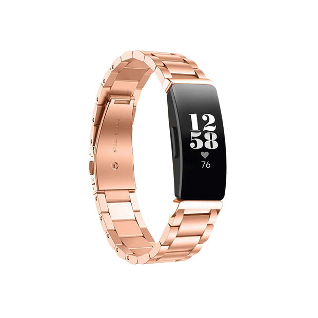 Mobile Mob Boss Fitbit Inspire & HR Band Replacement Stainless Link Rose Gold