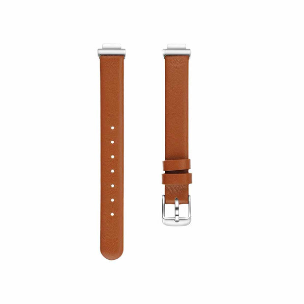 Leather Fitbit Inspire & HR Bands Replacement Strap Brown