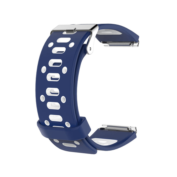 Mobile Mob AirVent Fitbit Blaze Bands Replacement Strap with Buckle Navy + White Vents