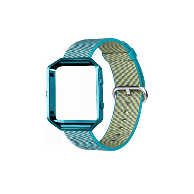 Mobile Mob Fitbit Blaze Woven Nylon Band Replacement & Frame Aqua