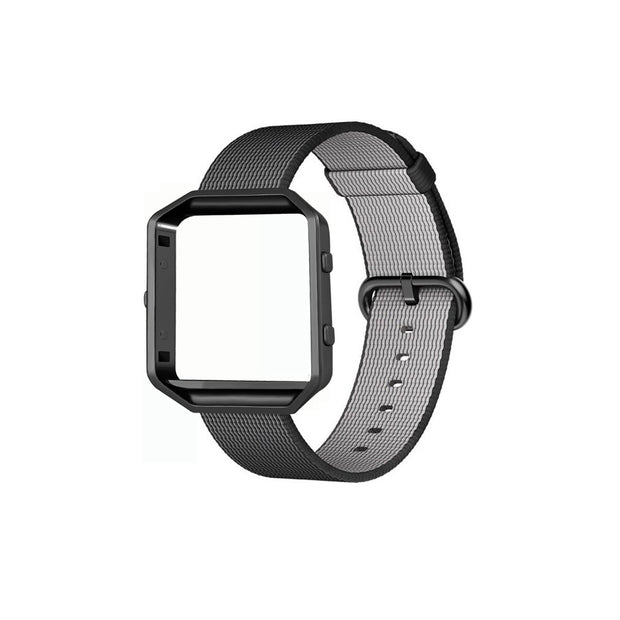 Mobile Mob Fitbit Blaze Woven Nylon Band Replacement & Frame Black